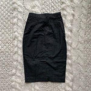Club Monaco denim high waisted skirt